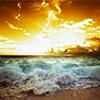 Zalazak sunca slike na platnu