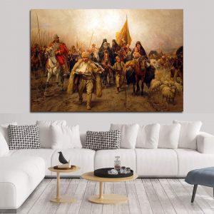 Srpske istorijske slike na platnu